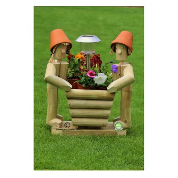 Solar Twosome Standing + Square Flower Basket
