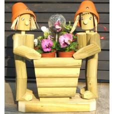 Solar Twosome Standing + Flower Basket