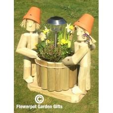 Solar Twosome Standing + Round Flower Basket
